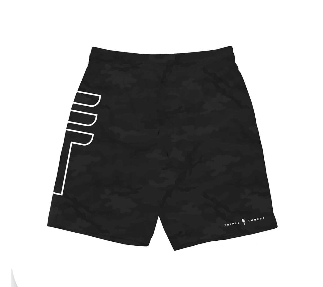 TRIPLE THREAT BIG LOGO SHORTS - BLACK