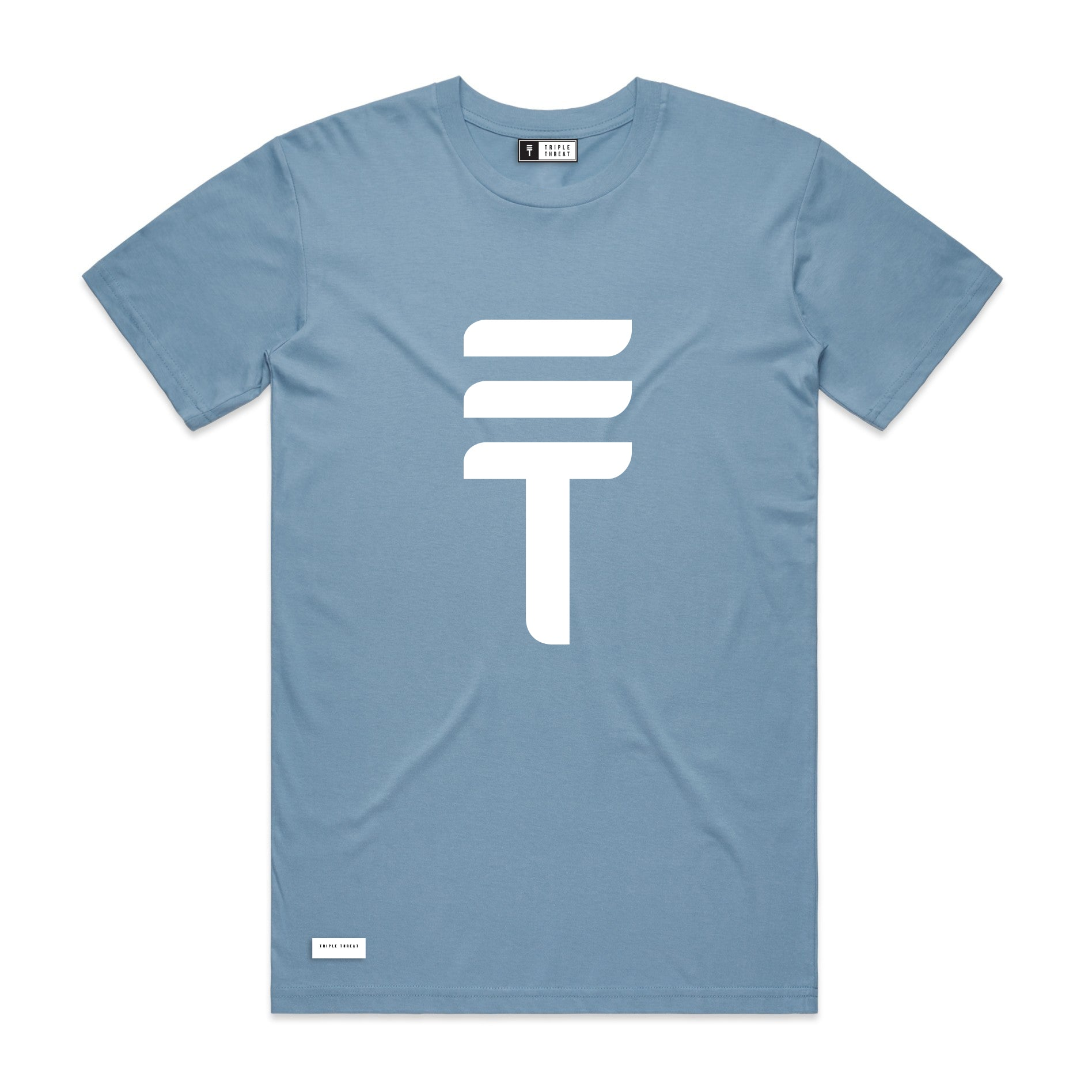 BIG LOGO T-SHIRT - LIGHT BLUE