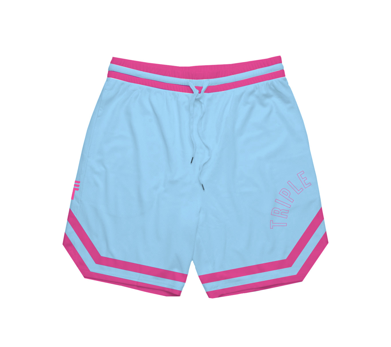 TRIPLE THREAT OG SHORTS - LIGHT BLUE & PINK