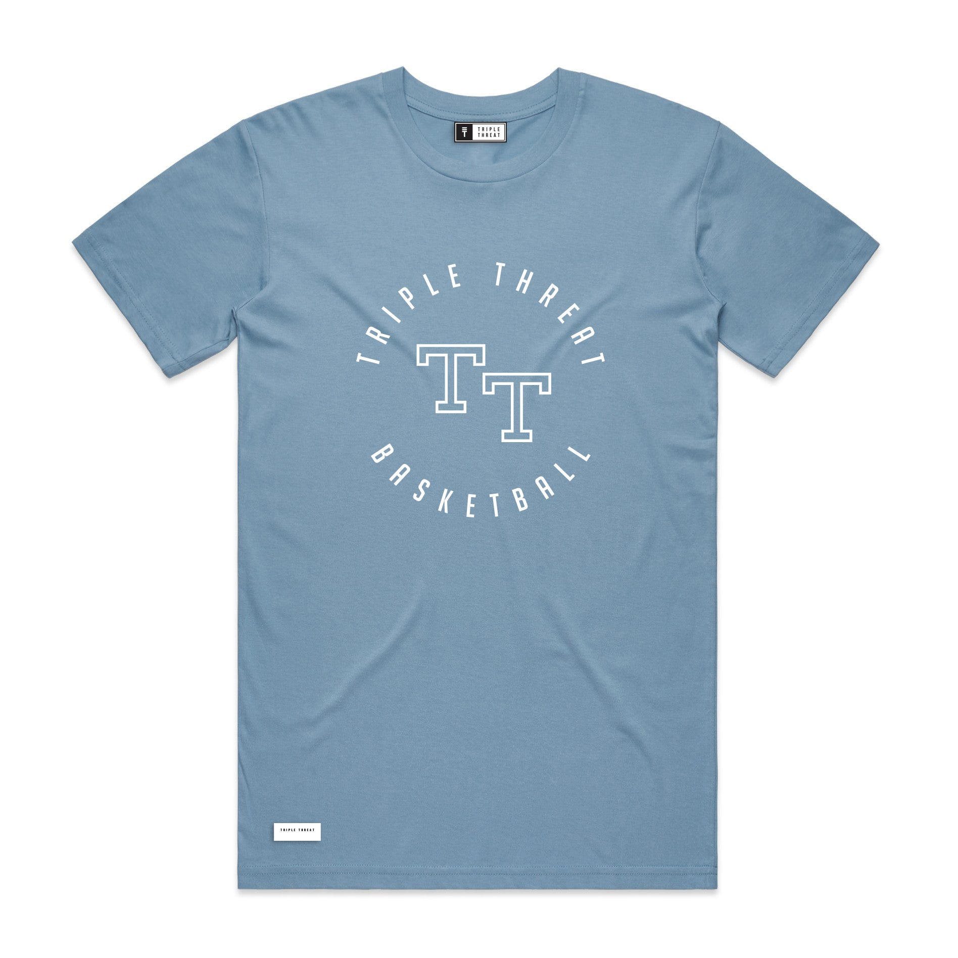 ROUND LOGO T-SHIRT - LIGHT BLUE