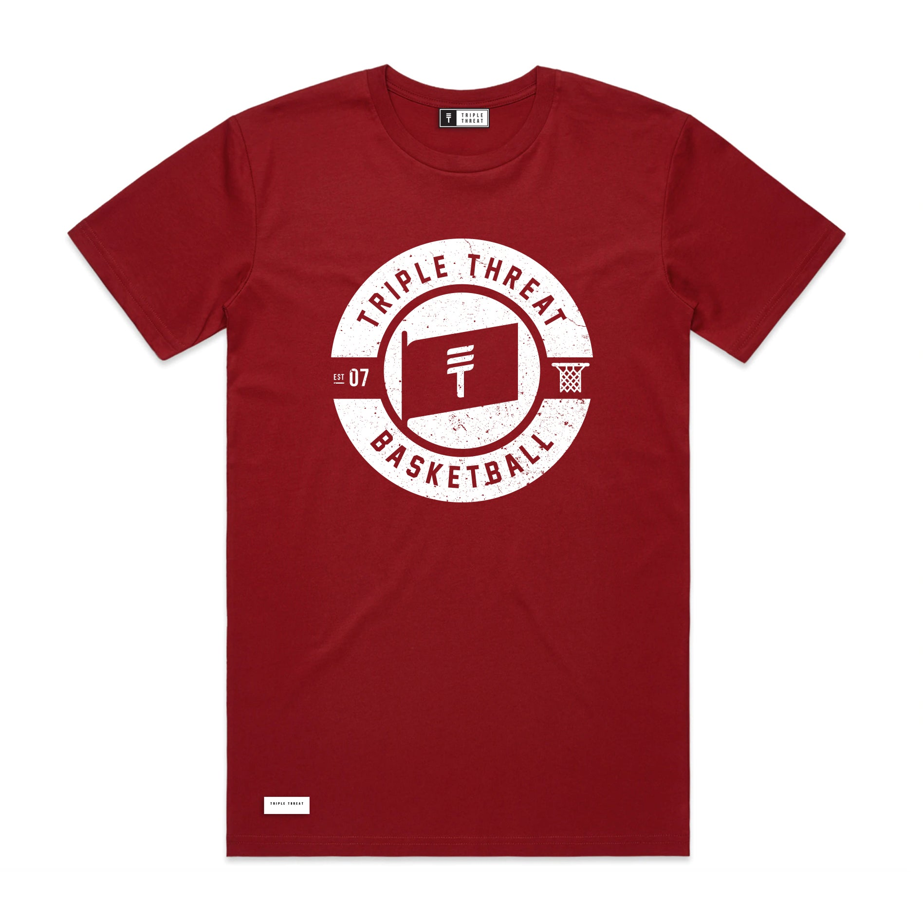 FLAG LOGO T-SHIRT - DARK RED