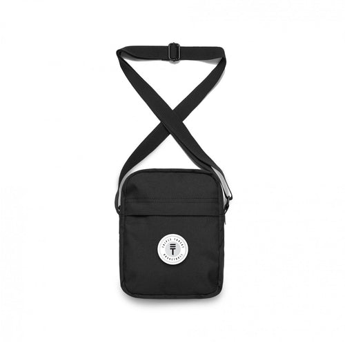 FUNDAMENTAL BADGE CROSS BODY BAG - BLACK
