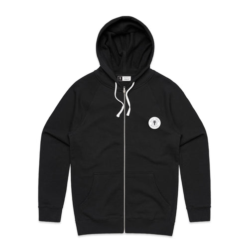 FUNDAMENTAL BADGE ZIP HOODIE - BLACK