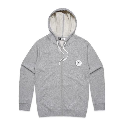 FUNDAMENTAL BADGE ZIP HOODIE - GREY