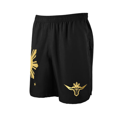 BUFFALO SHORTS - BLACK/GOLD