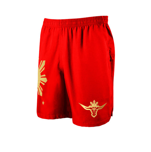 BUFFALO SHORTS - RED/GOLD