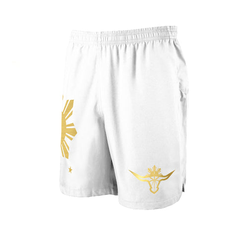 BUFFALO SHORTS - WHITE/GOLD
