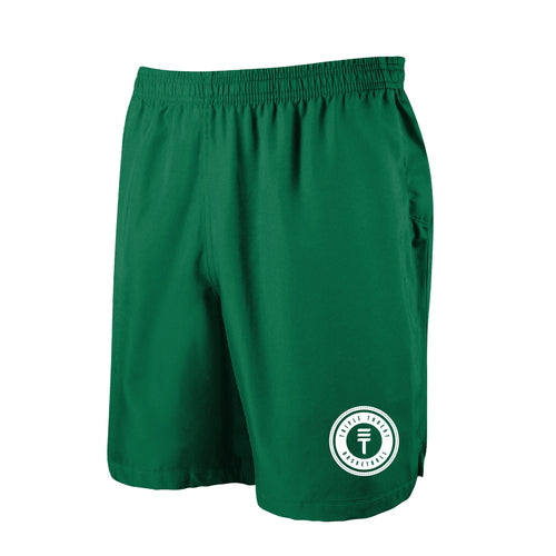TT SHORTS - GREEN/WHITE