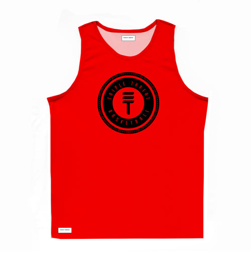 LOGO SINGLET - RED & BLACK