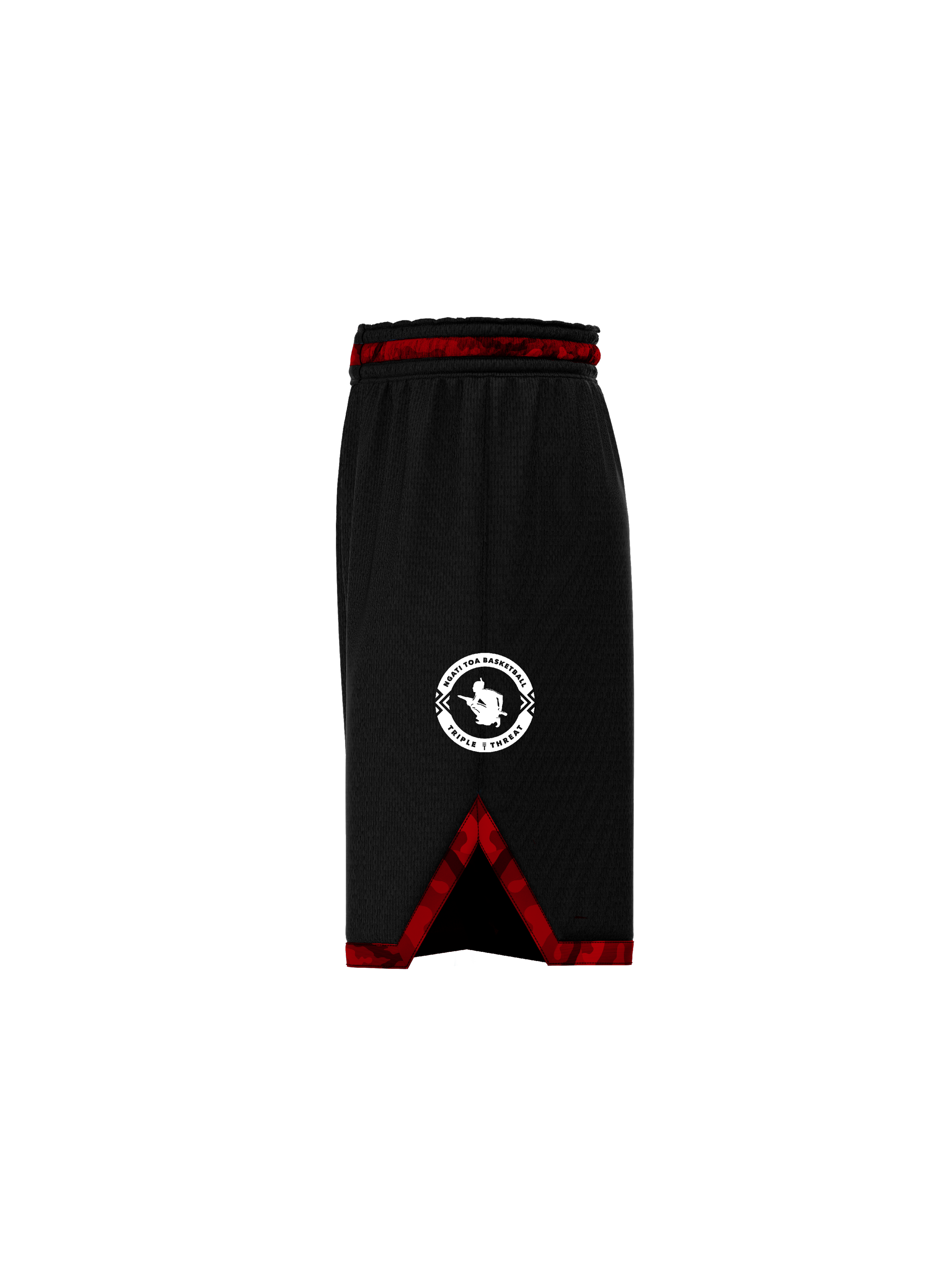 Ngati Toa KIDS short - Black & Red camo