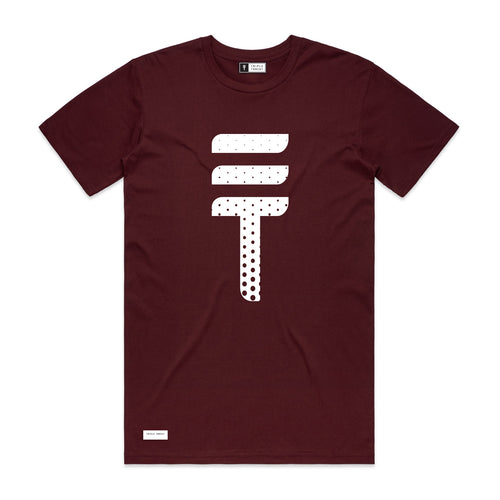 DOTTED T-SHIRT - MAROON