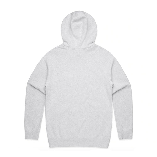 FUNDAMENTAL BADGE MID WEIGHT HOODIE - WHITE MARLE