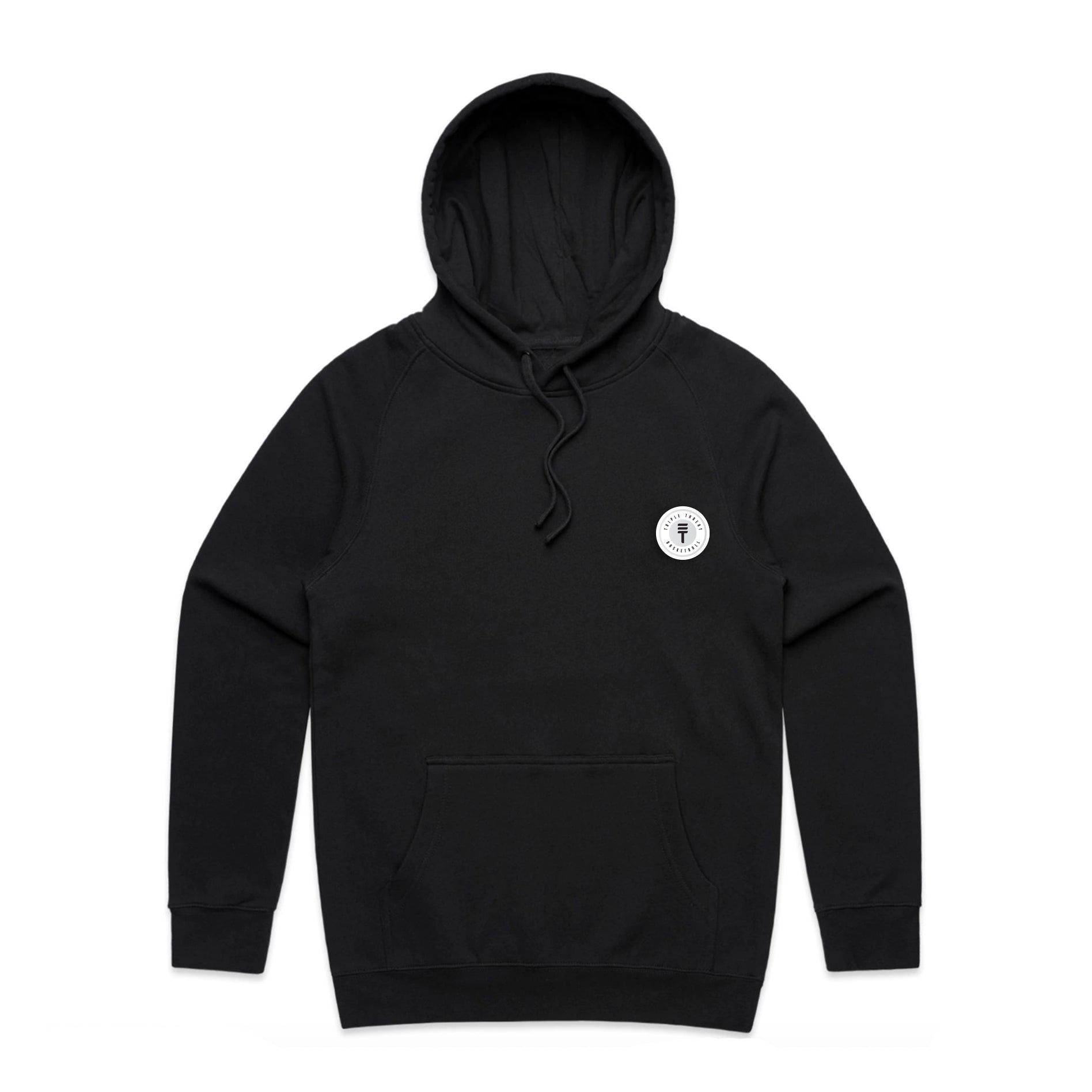 FUNDAMENTAL BADGE MID WEIGHT HOODIE - BLACK