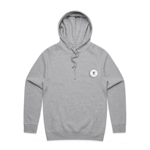 FUNDAMENTAL BADGE MID WEIGHT HOODIE - GREY MARLE