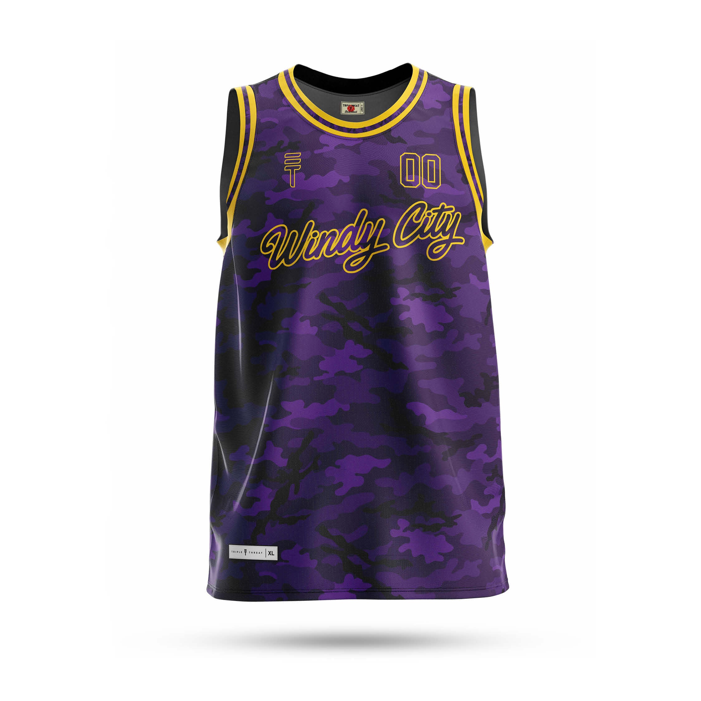 Windy City Custom singlet - Purple & Yellow