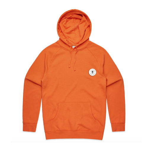 FUNDAMENTAL BADGE MID WEIGHT HOODIE - ORANGE