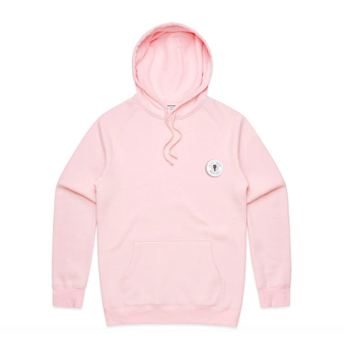 FUNDAMENTAL BADGE MID WEIGHT HOODIE - PINK