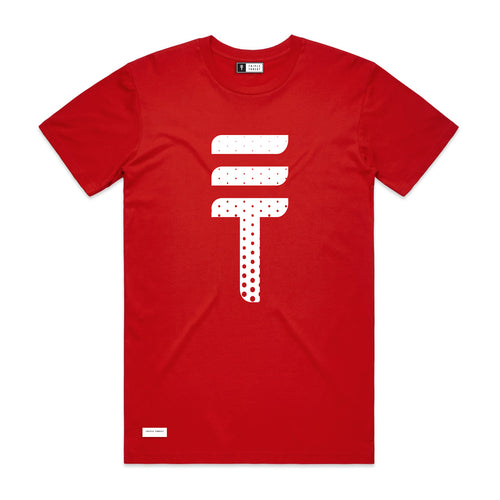 DOTTED T-SHIRT - RED