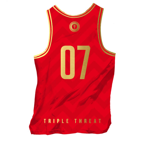 BUFFALO SINGLET - RED/GOLD