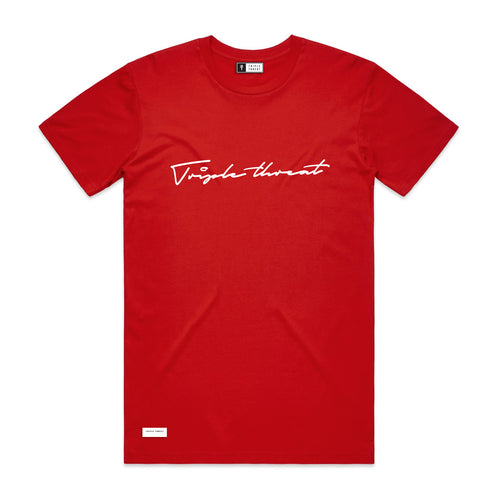 SCRIPT T-SHIRT - RED