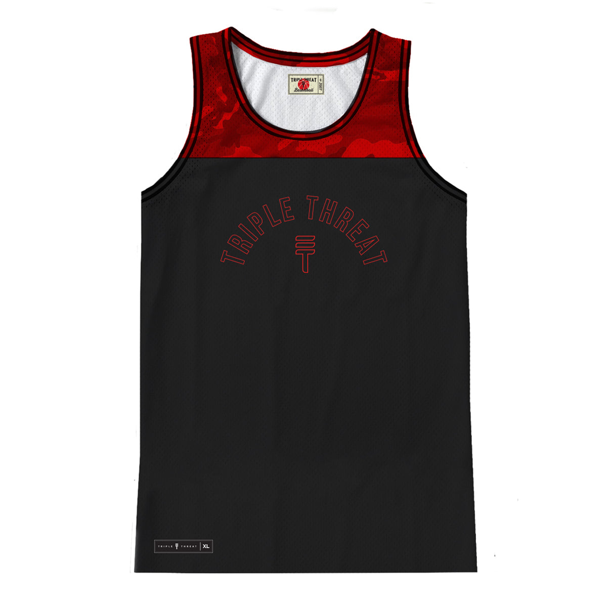 CAMOUFLAGE SINGLET - RED