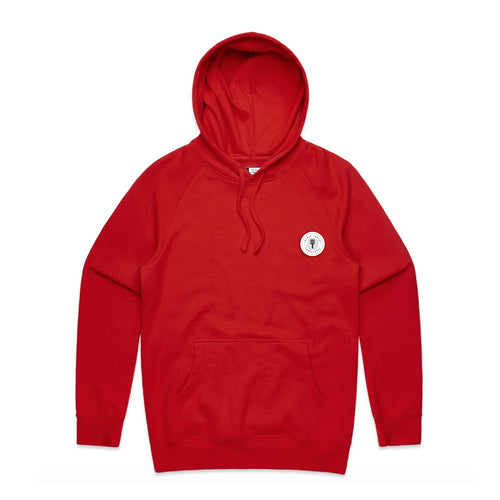 FUNDAMENTAL BADGE MID WEIGHT HOODIE - RED