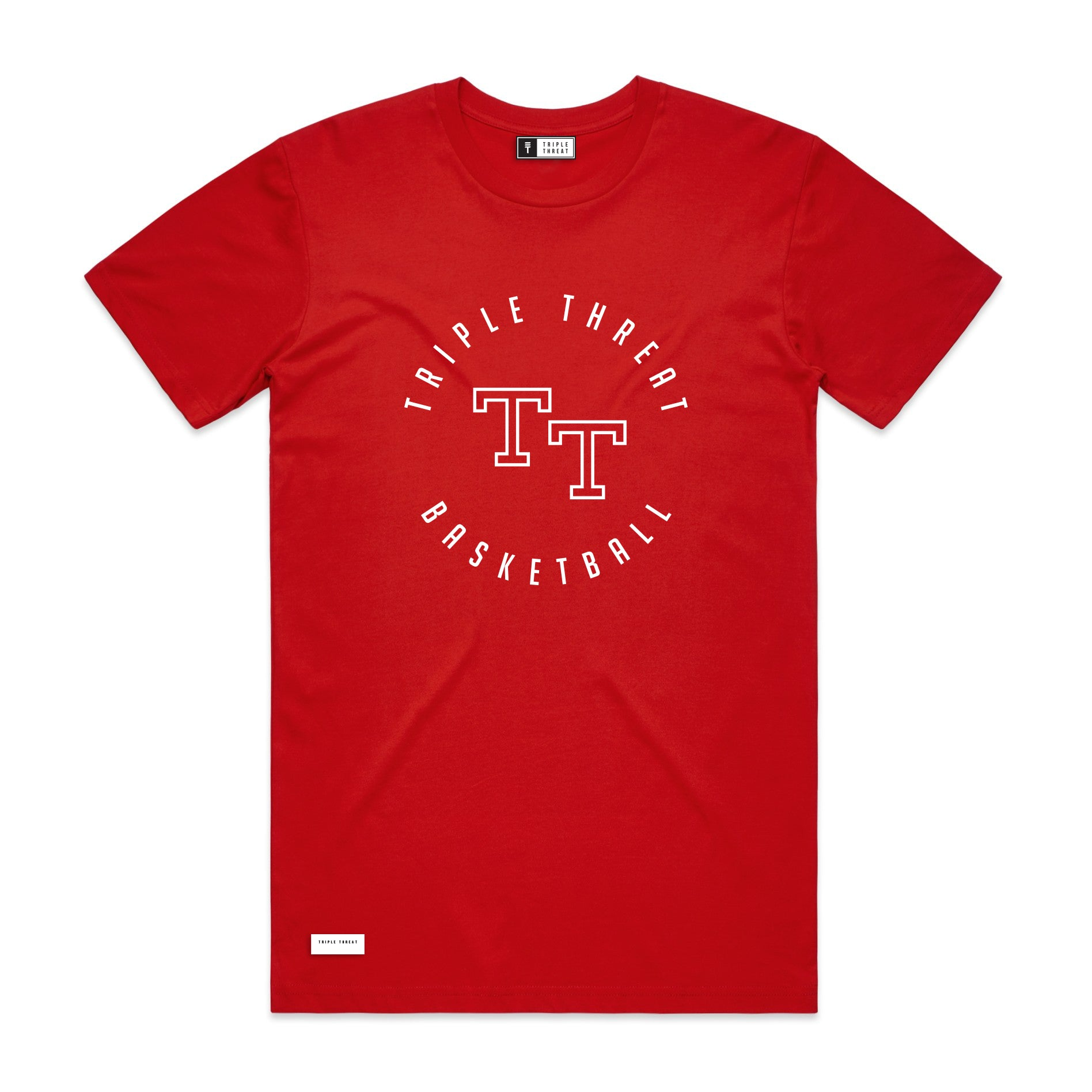 ROUND LOGO T-SHIRT - RED