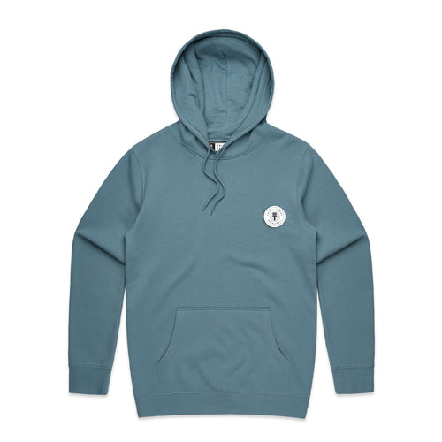 FUNDAMENTAL BADGE HOODIE - PALE BLUE