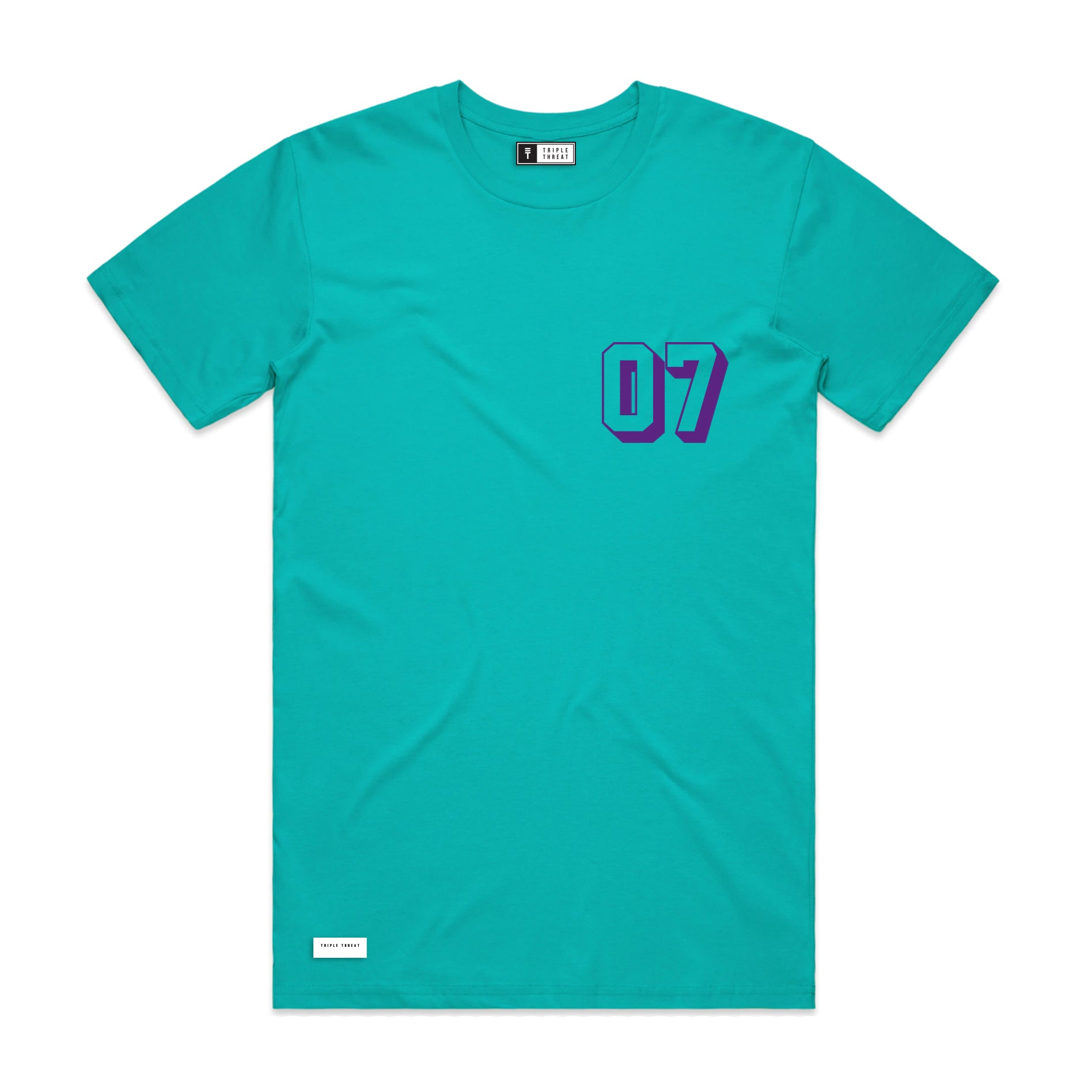 ALL STAR T-SHIRT - TEAL & PURPLE