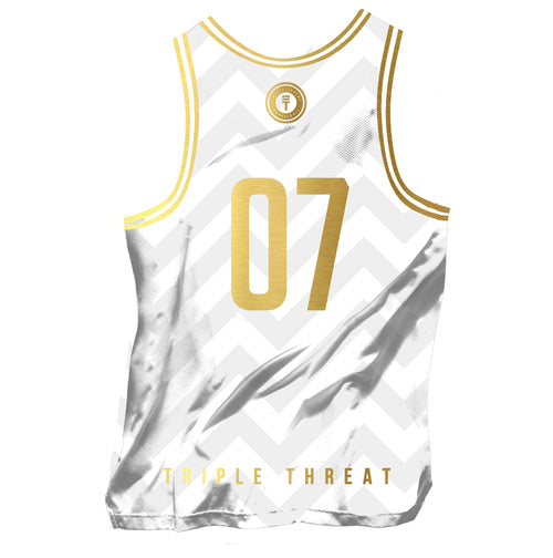 BUFFALO SINGLET - WHITE/GOLD