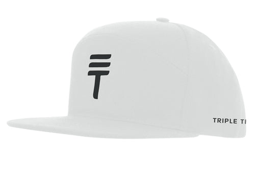 Triple Threat Snapback - White/Black