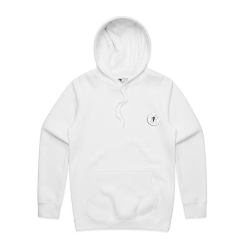 FUNDAMENTAL BADGE HOODIE - WHITE