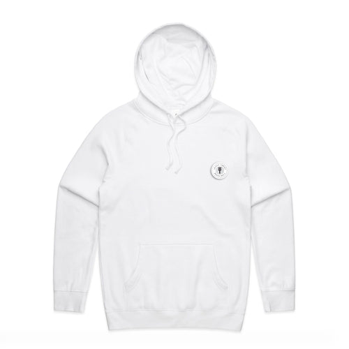 FUNDAMENTAL BADGE MID WEIGHT HOODIE - WHITE