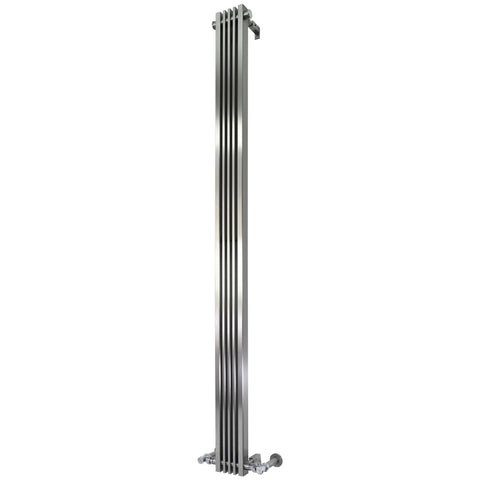 Accuro Korle Cadence Vertical Brushed Stainless Steel Space Saving Designer Radiator
