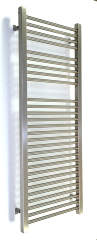 Accuro Korle Centurion Brushed Stainless Steel Designer Towel Radiator
