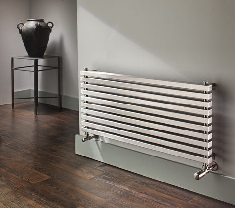Accuro Korle Cadence Luxury Horizontal Brushed Stainless Steel Radiator