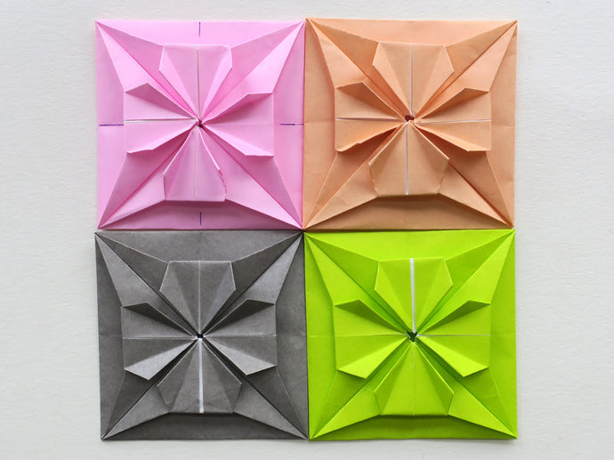 INSTRUCTIONS FOR ORIGAMI SQUARE TILES
