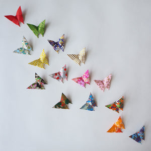 Beautiful Origami Butterflies Wall Decorations
