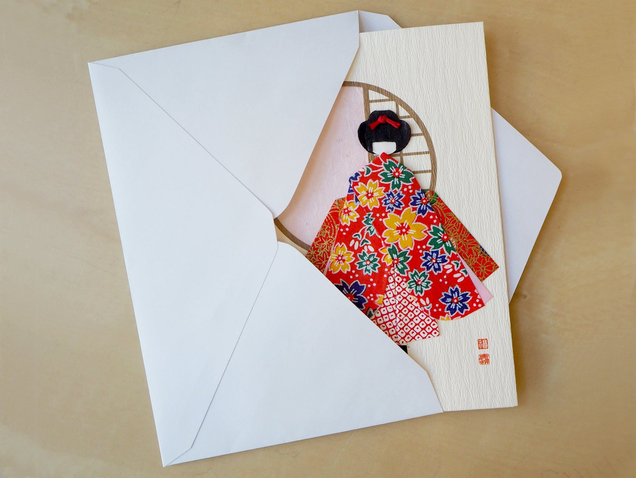Japanese greeting cards lavender home japanese origami doll greeting cards m4hsunfo