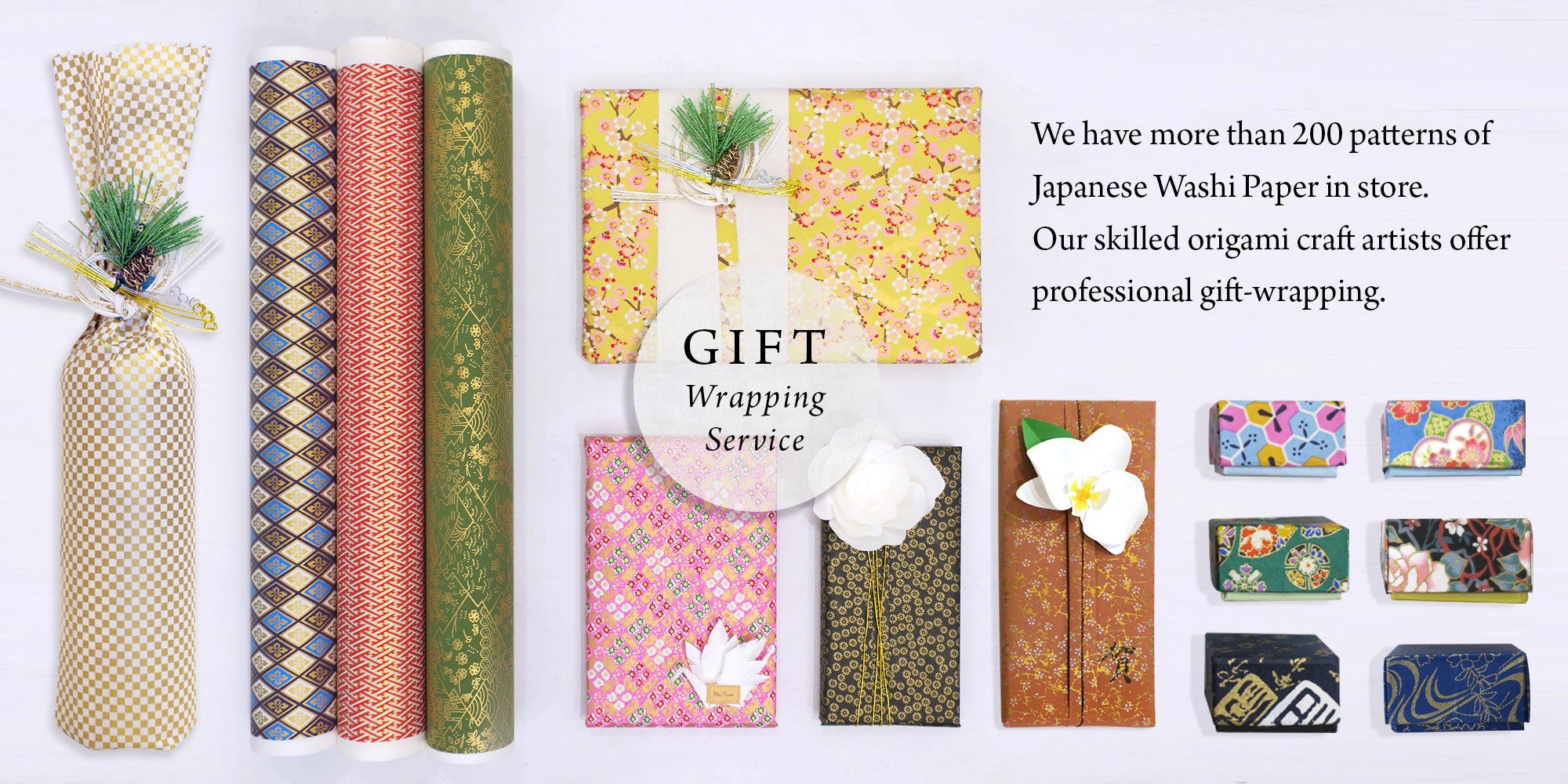 Japanese Gift Wrapping Service. Get wrapped your gifts, presents right away and ship to you.