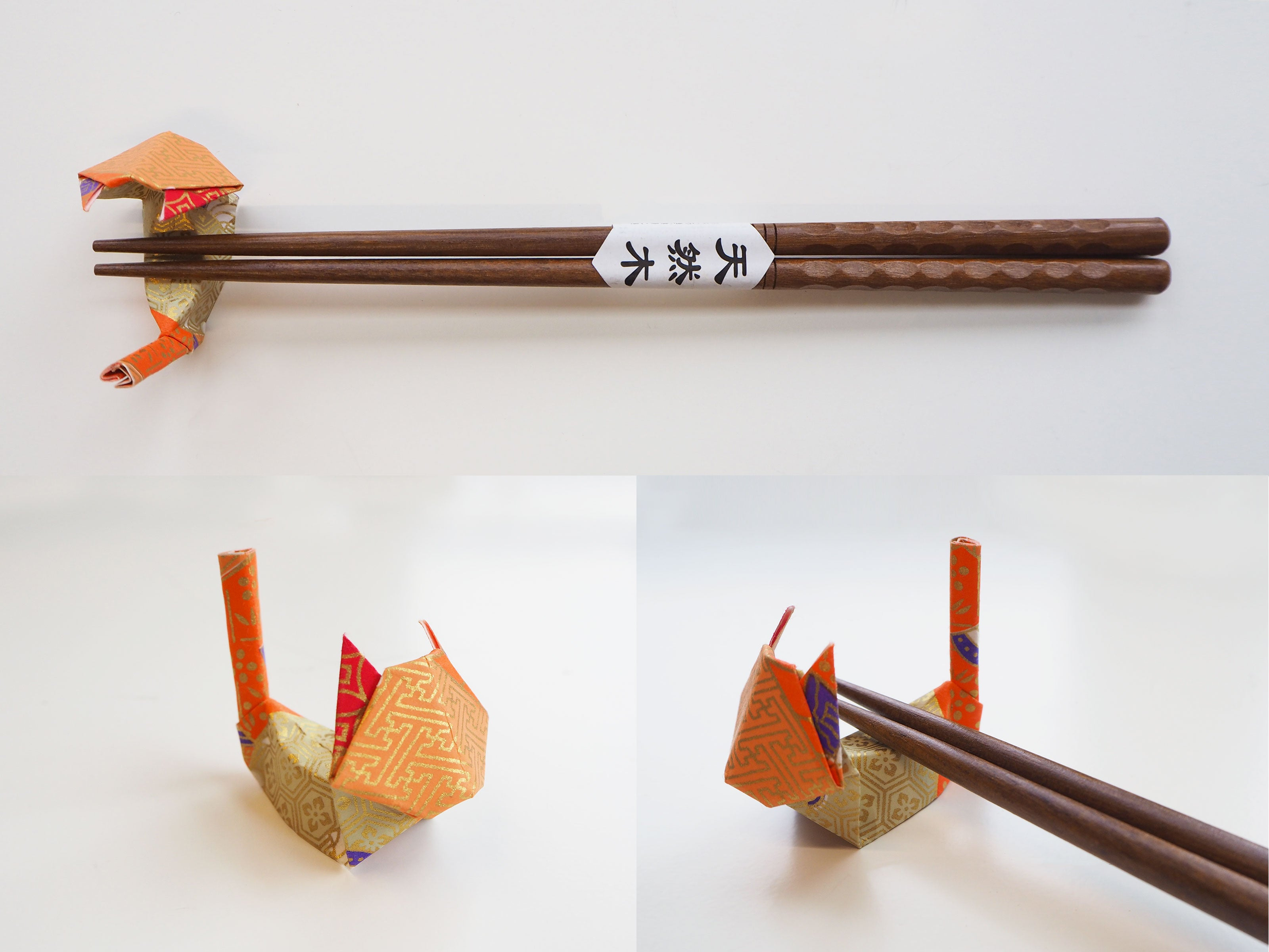 Origami Cat Chopstick Holder