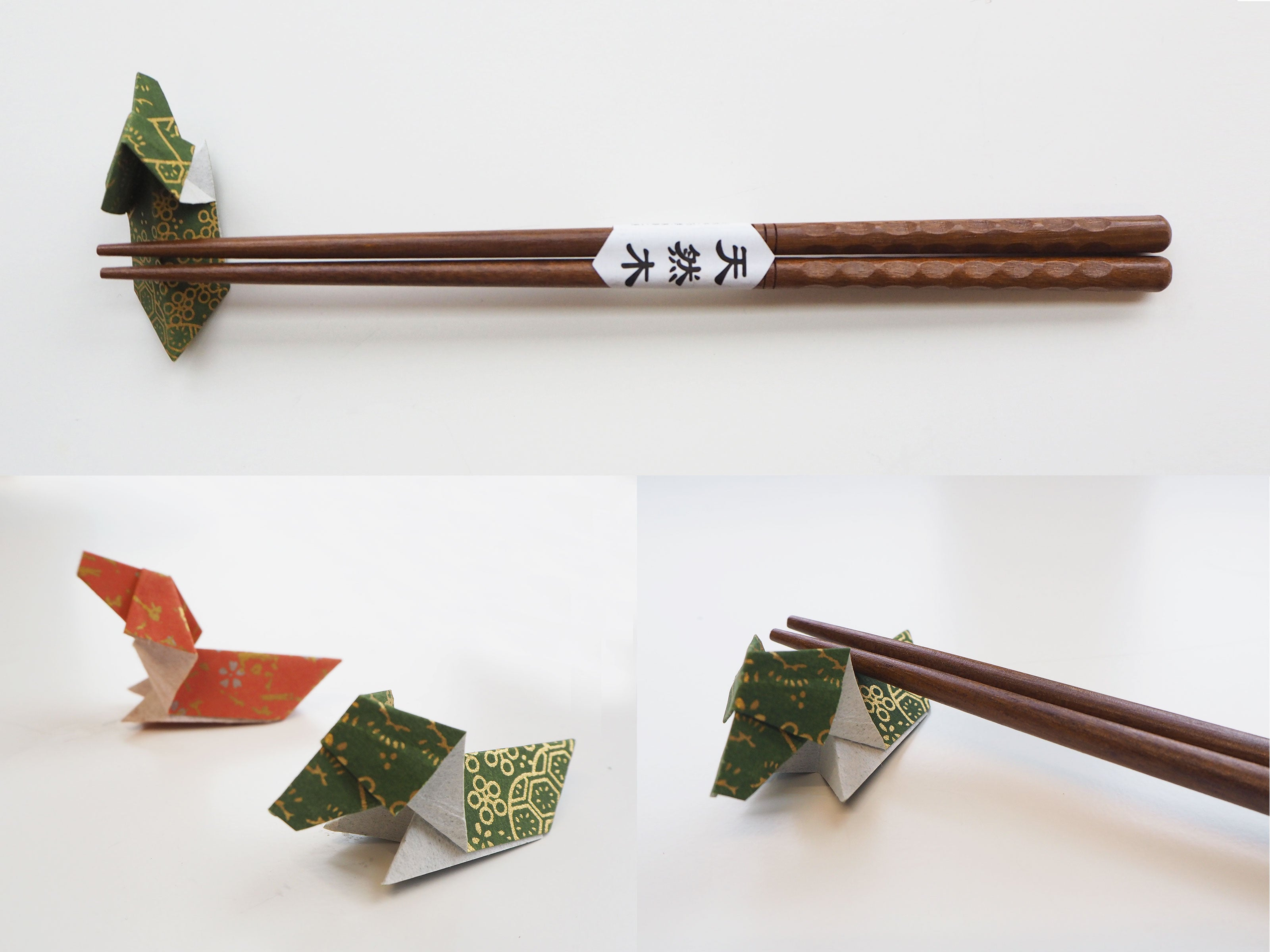 Origami Dog Chopstick Holder