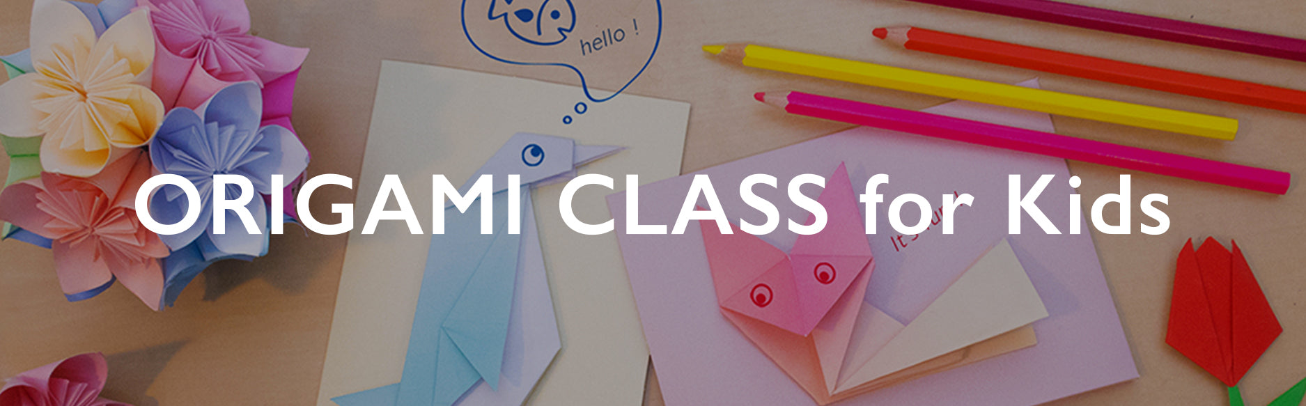 Flexible In store Origami Class for Kids in London