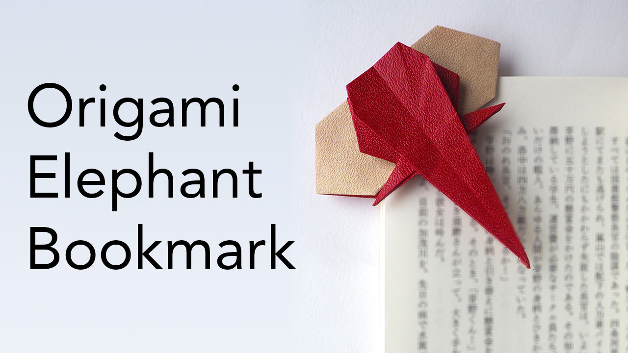Tutorial for Origami Elephant Bookmark