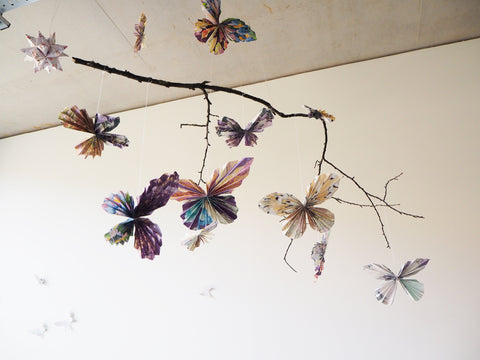 Mobile Butterflies Origami Hanging Decorations