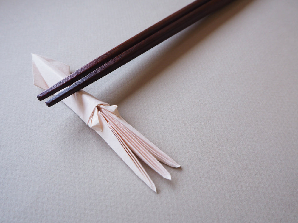 origami squid chopsticks rest