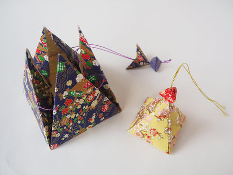 Japanese Origami Pyramid Wedding Favor Box