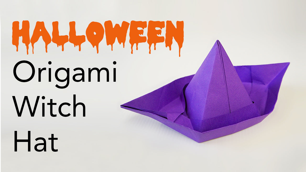 Halloween Origami Witch Hat Tutorial Video