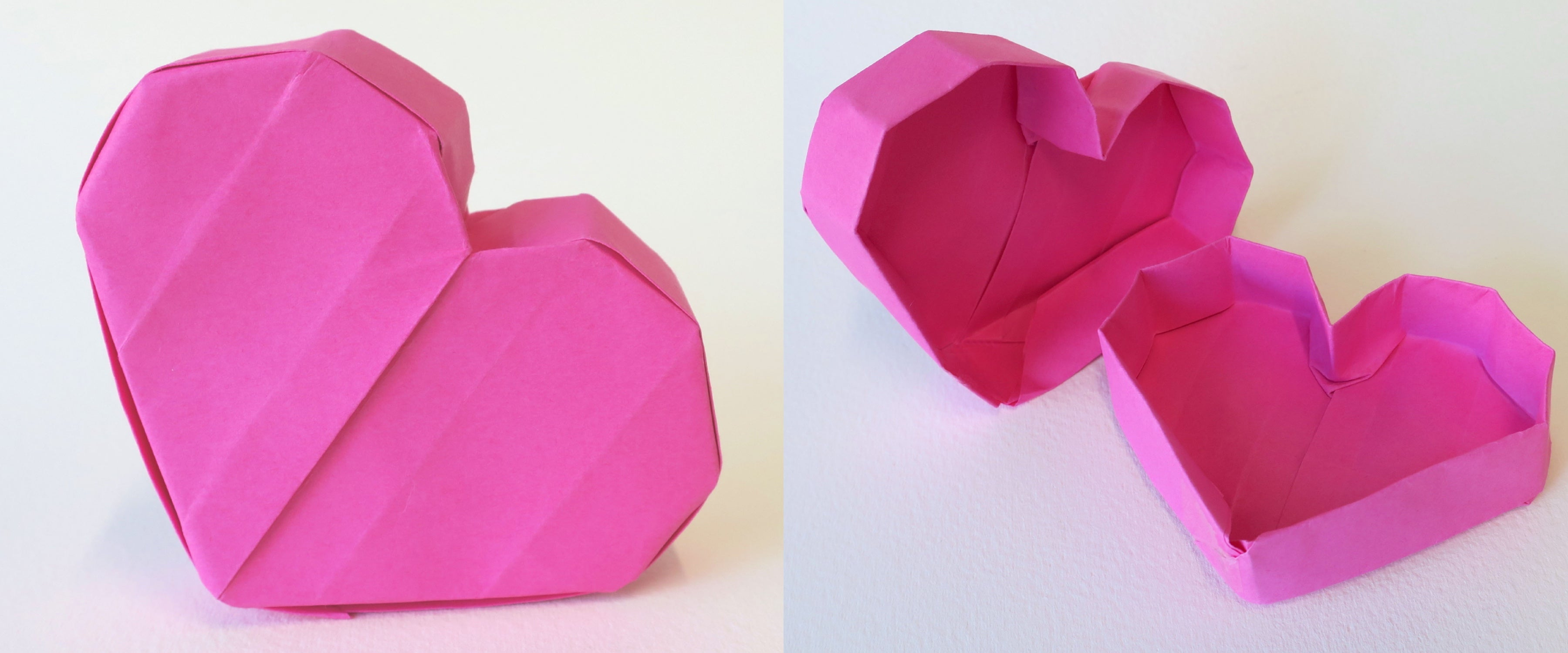 Origami Heart Container Box