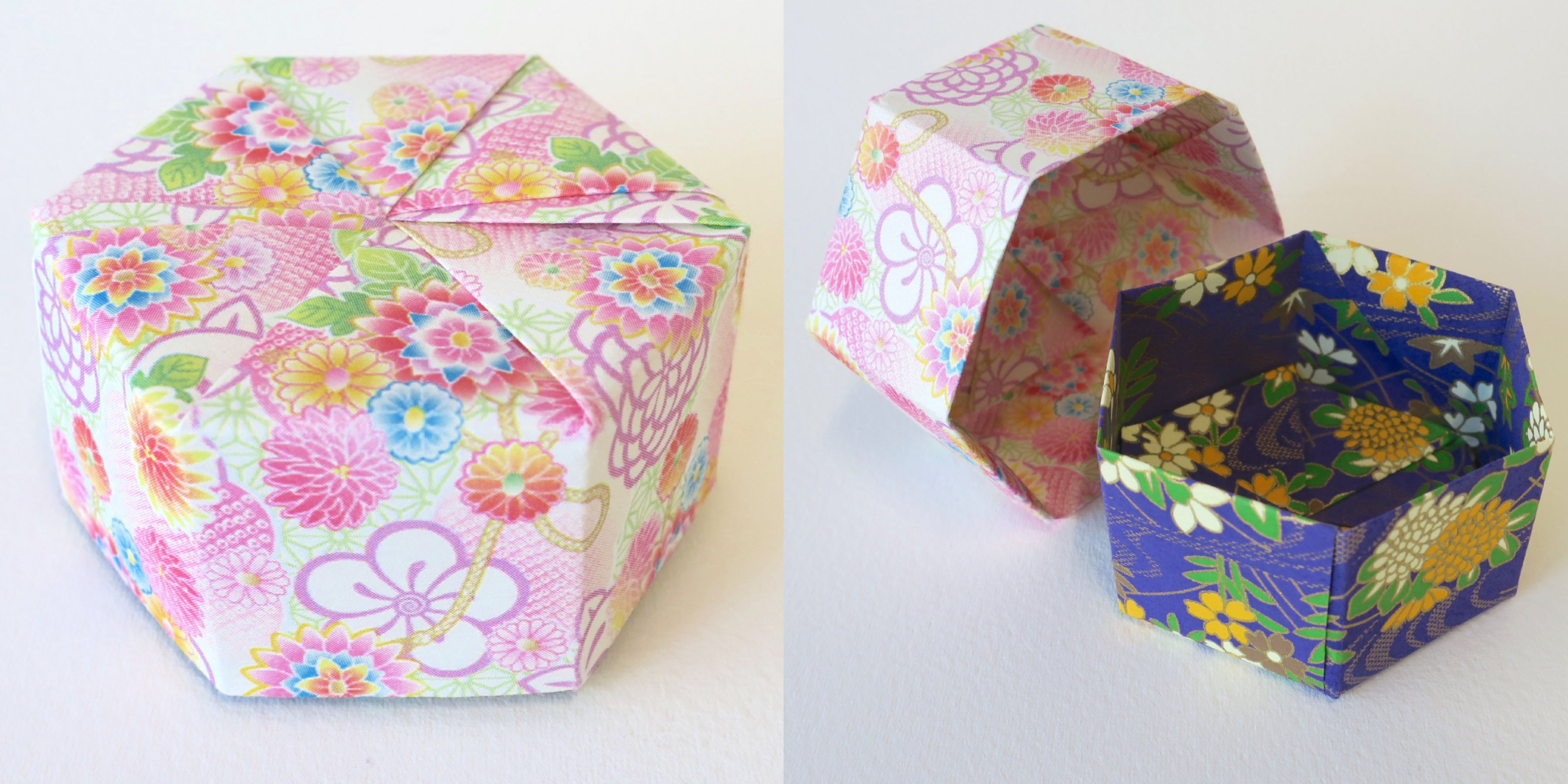 Origami Hexagon Container Box